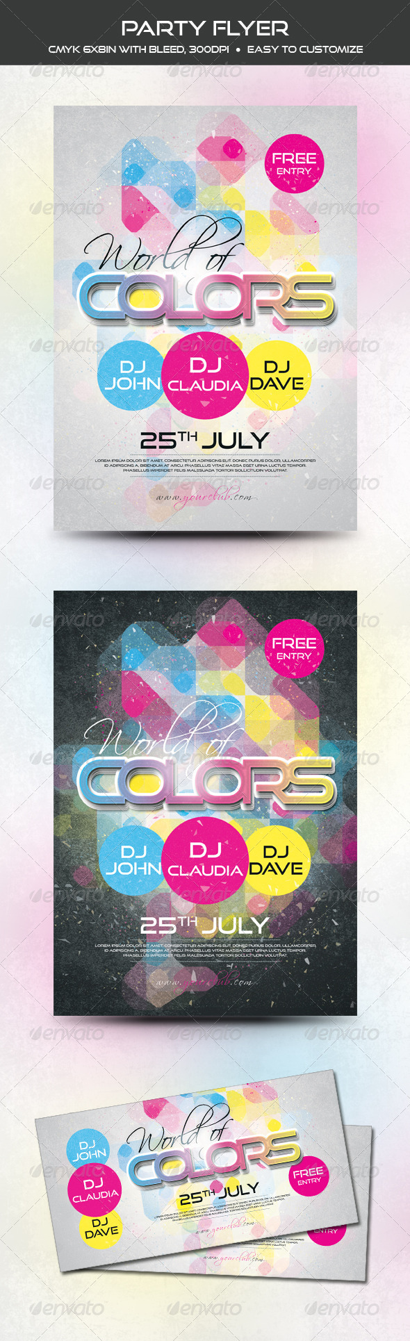 GraphicRiver Colorful Party Flyer 7499655