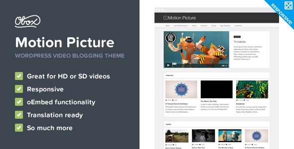 Motion Picture - Responsive WordPress Video Theme