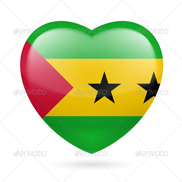GraphicRiver Heart Icon of Sao Tome and Principe 7499722