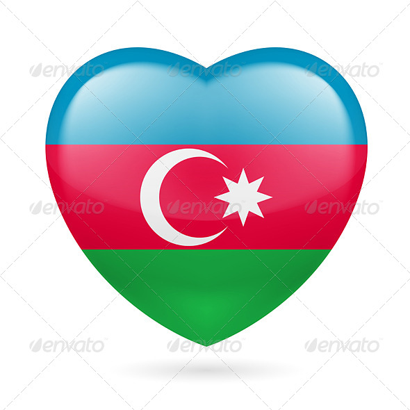 GraphicRiver Heart Icon of Azerbaijan 7499727