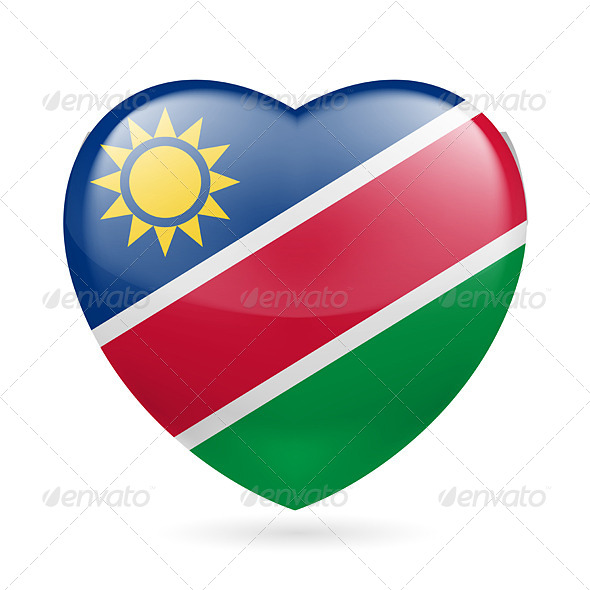 GraphicRiver Heart Icon of Namibia 7499751