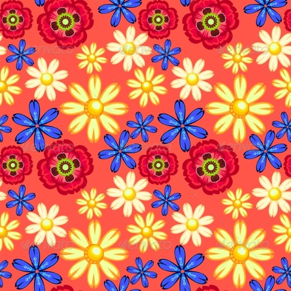 GraphicRiver Flowers Seamless Pattern 7499772