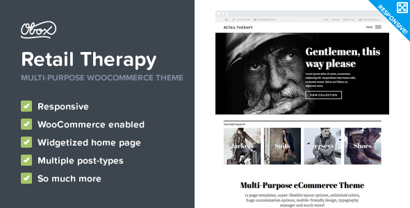 Retail Therapy - Multi-Purpose eCommerce Theme - WooCommerce eCommerce