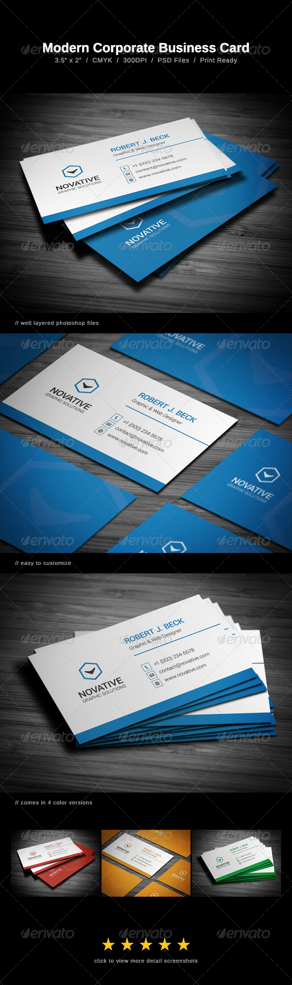 GraphicRiver Modern Corporate Business Card 7499882