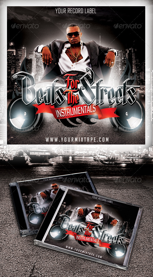 Beats For The Streets - Mixtape / CD Cover - CD & DVD artwork Print Templates