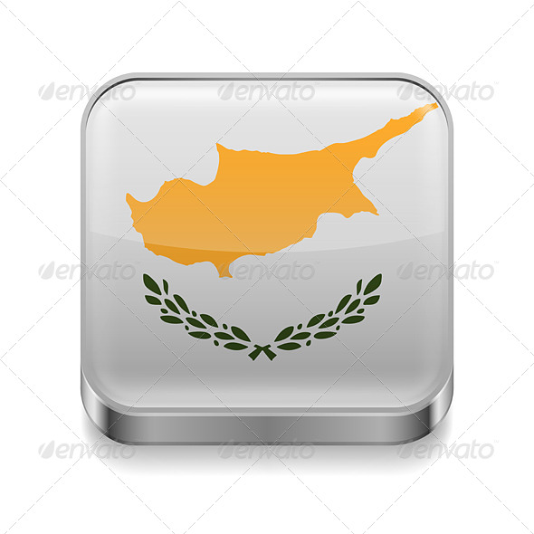 GraphicRiver Metal Icon of Cyprus 7499982