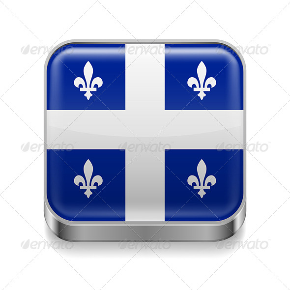 GraphicRiver Metal Icon of Quebec 7499984