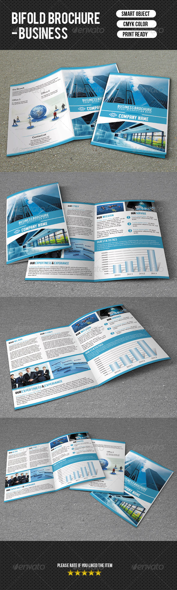 GraphicRiver Bifold Business Brochure 7500011