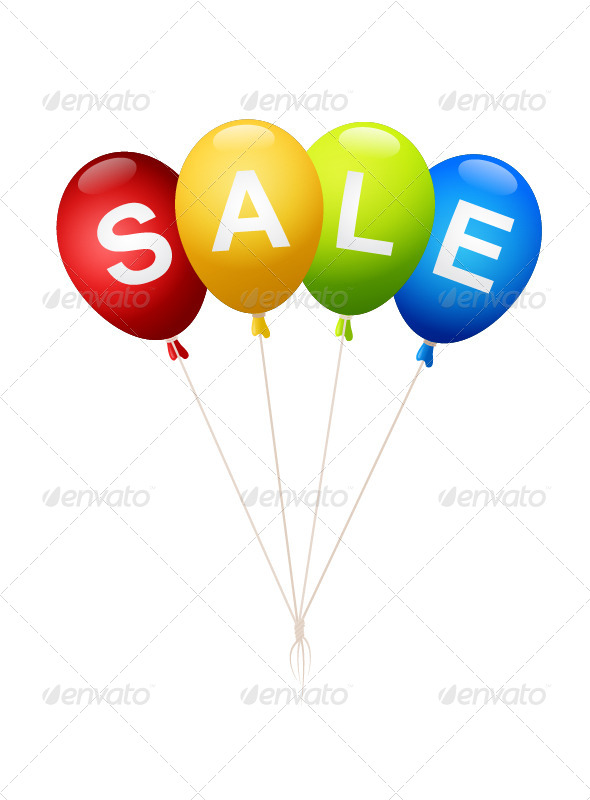 GraphicRiver Sale Balloons 7500041