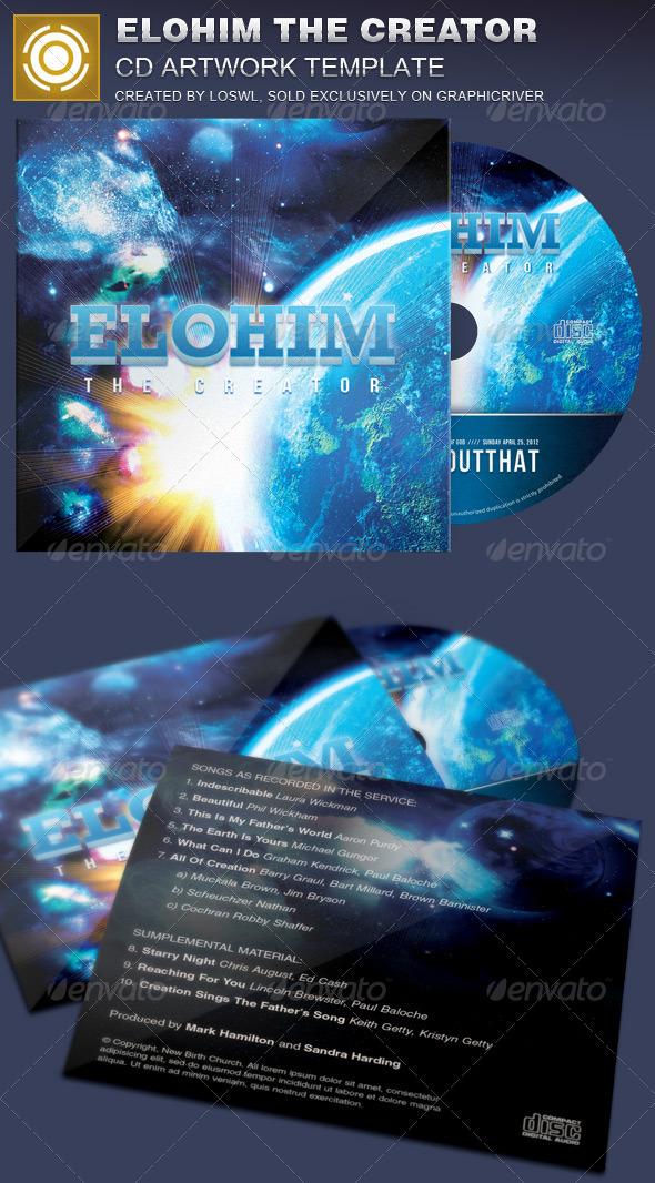 GraphicRiver Elohim the Creator CD Artwork Template 7500085