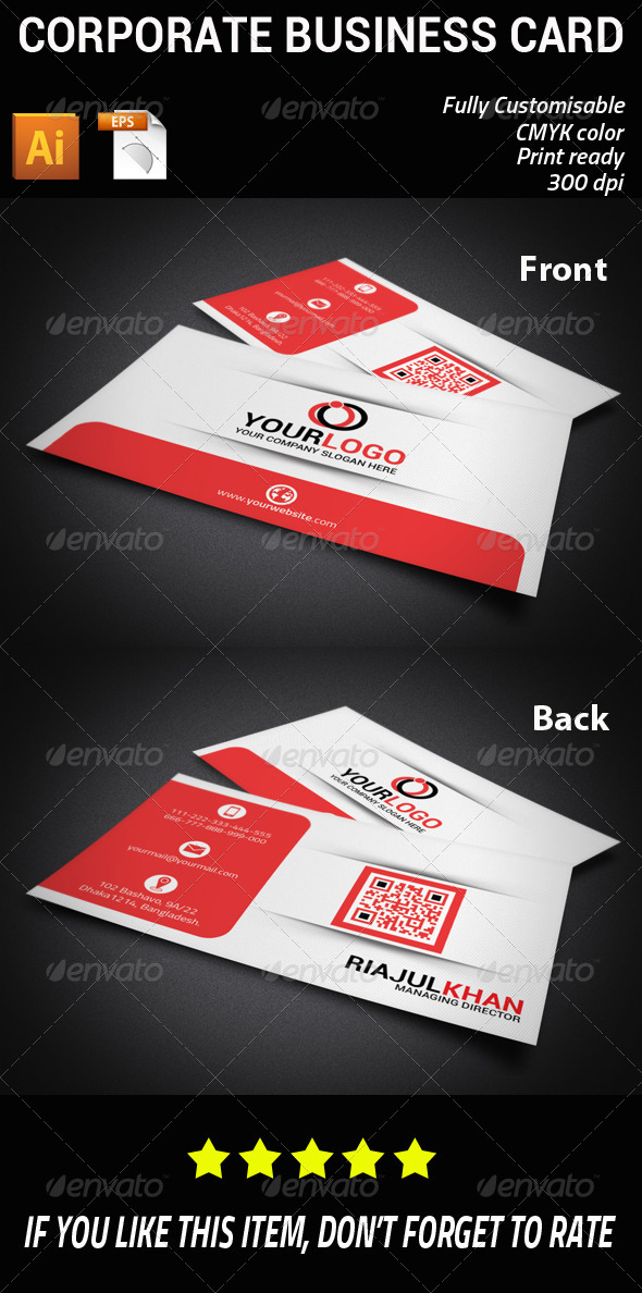 GraphicRiver Corporate Business Card 7499132