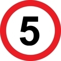 5 speed limitation road sign - PhotoDune Item for Sale