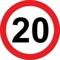 20 speed limitation road sign - PhotoDune Item for Sale
