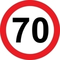 70 speed limitation road sign - PhotoDune Item for Sale