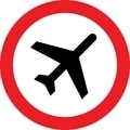 No airplane sign - PhotoDune Item for Sale