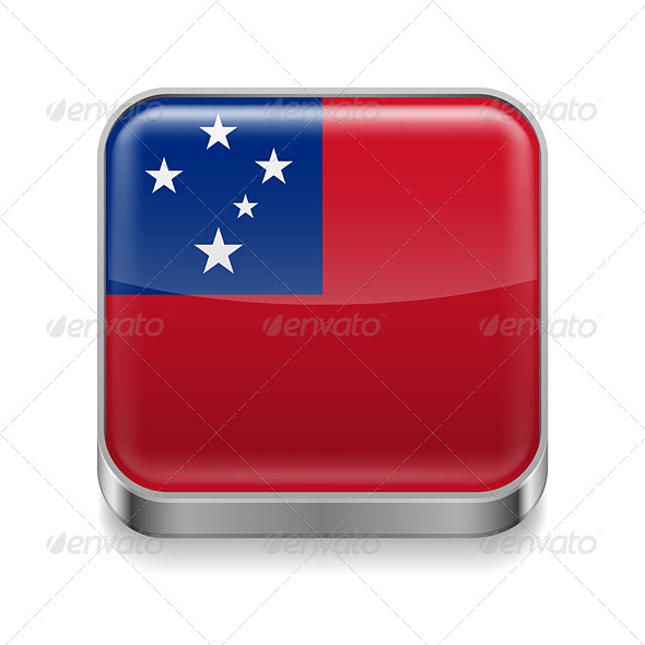 GraphicRiver Metal Icon of Samoa 7500165
