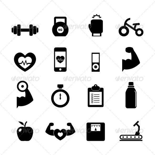 GraphicRiver Fitness Icon 7500166