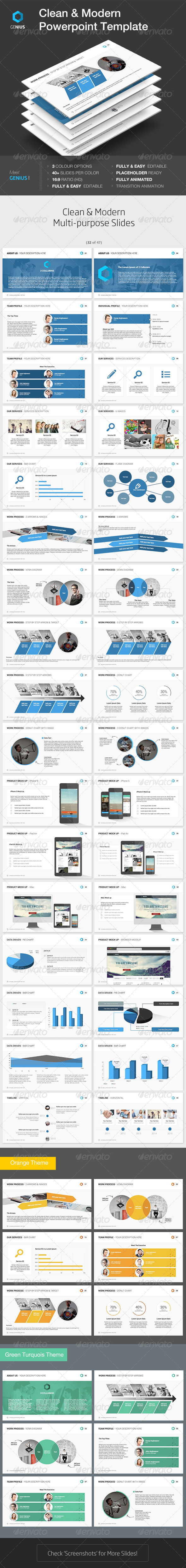 GraphicRiver Genius Powerpoint Template 7500180