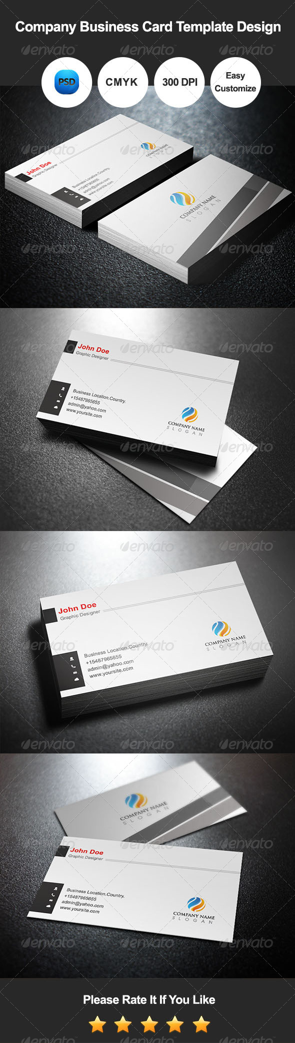 GraphicRiver Company Business Card Template Design 7500198