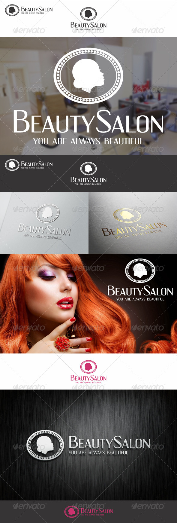Beauty Salon Badge Logo - Humans Logo Templates