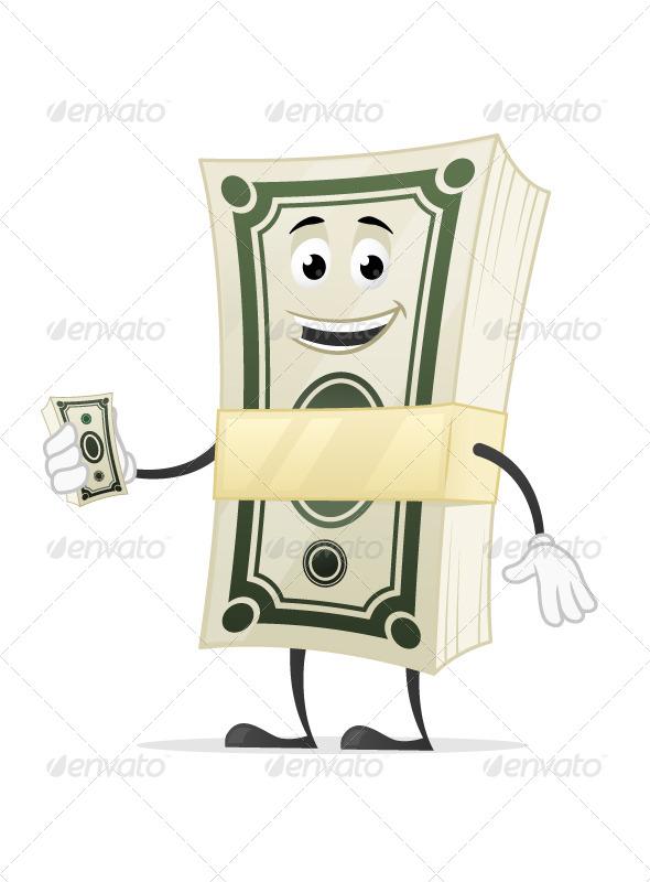 GraphicRiver Money Mascot 7500099