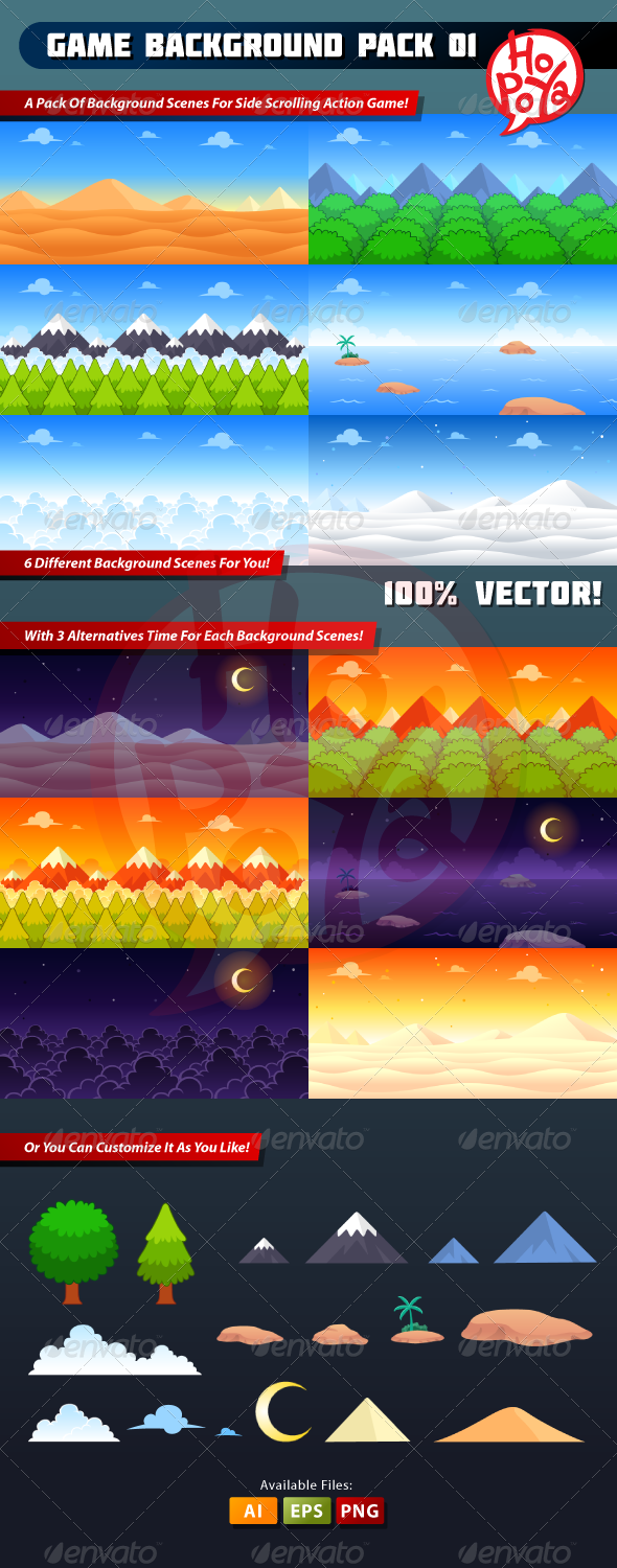 GraphicRiver Game Background Pack 01 7500258