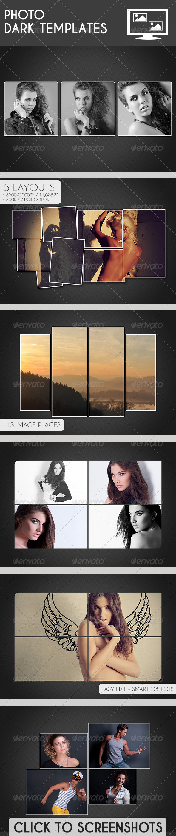 GraphicRiver Photo Dark Templates 7500260
