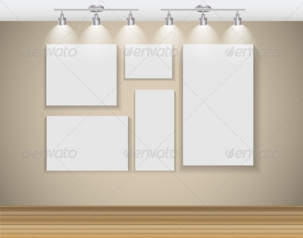 GraphicRiver Frame on Wall for Your Text and Images 7500469