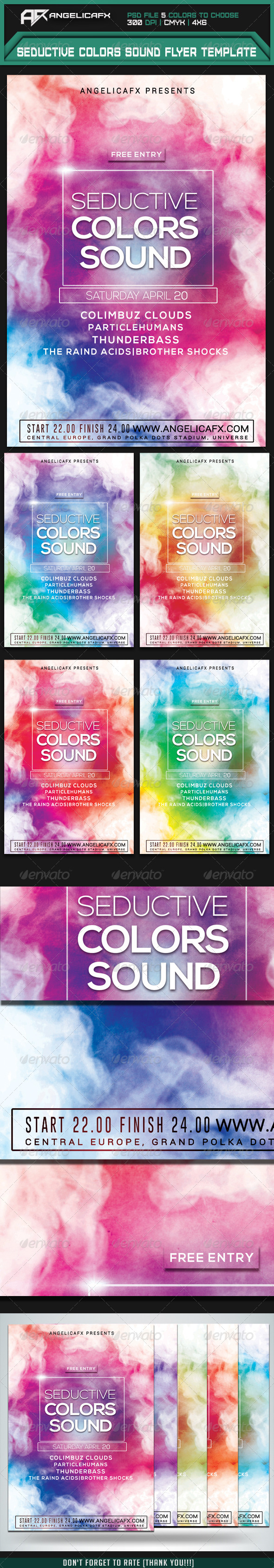 GraphicRiver Seductive Colors Sound Flyer Template 7500478