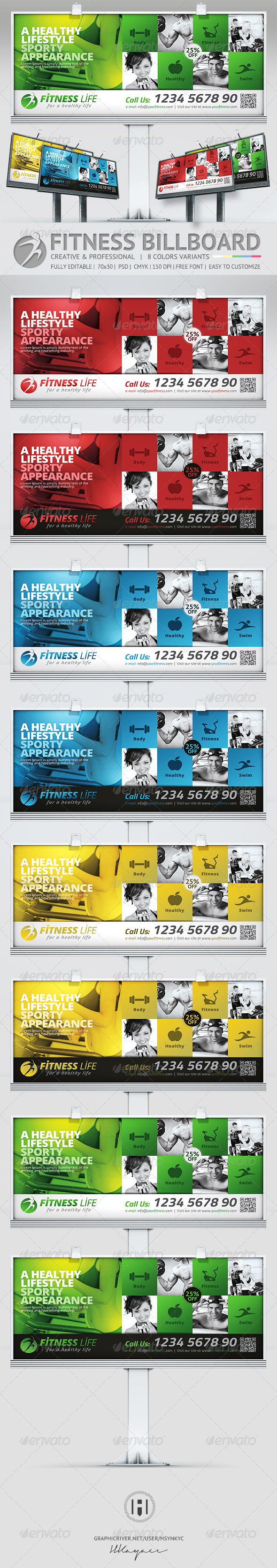 GraphicRiver Fitness Billboard 7500492