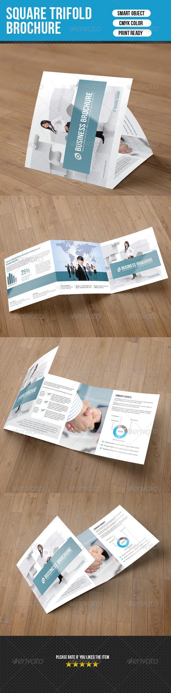 GraphicRiver Square Trifold Brochure-Business 7500491