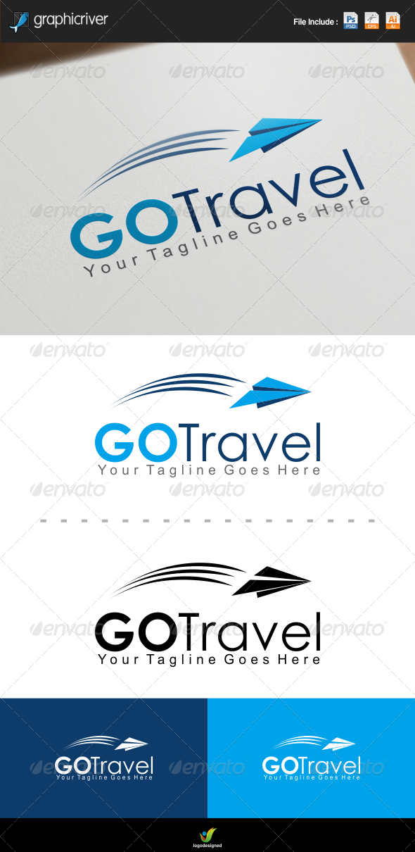 GraphicRiver Go Travel Logo 7500620