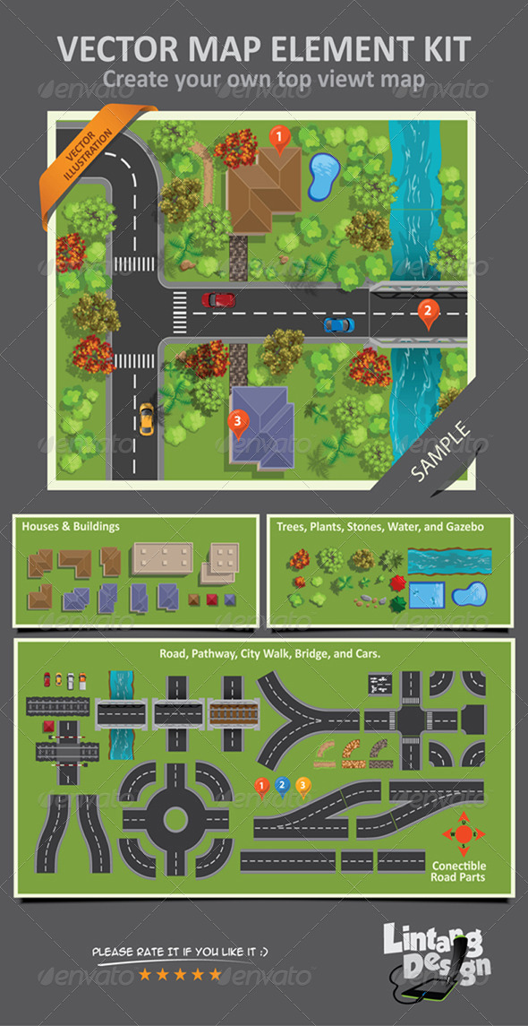GraphicRiver Map Elements 7485766