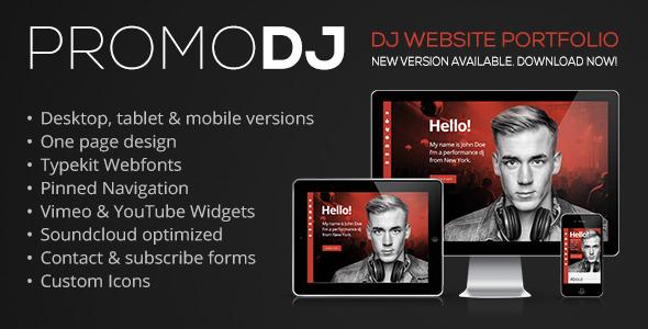 PromoDJ - One Page DJ Portfolio Muse Template