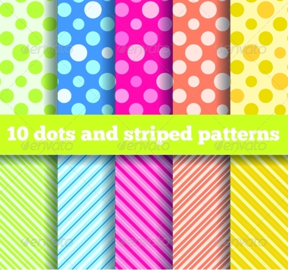 GraphicRiver 10 Seamless Dots and Striped Patterns 7501067