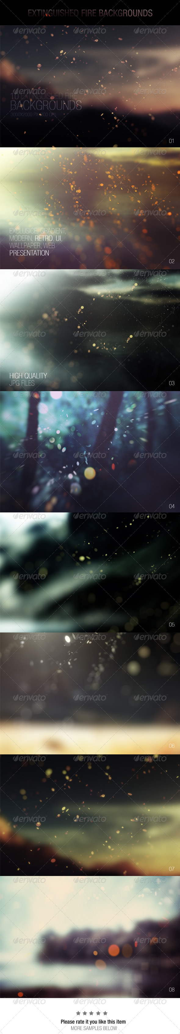 GraphicRiver Extinguished Fire Backgrounds 7501069