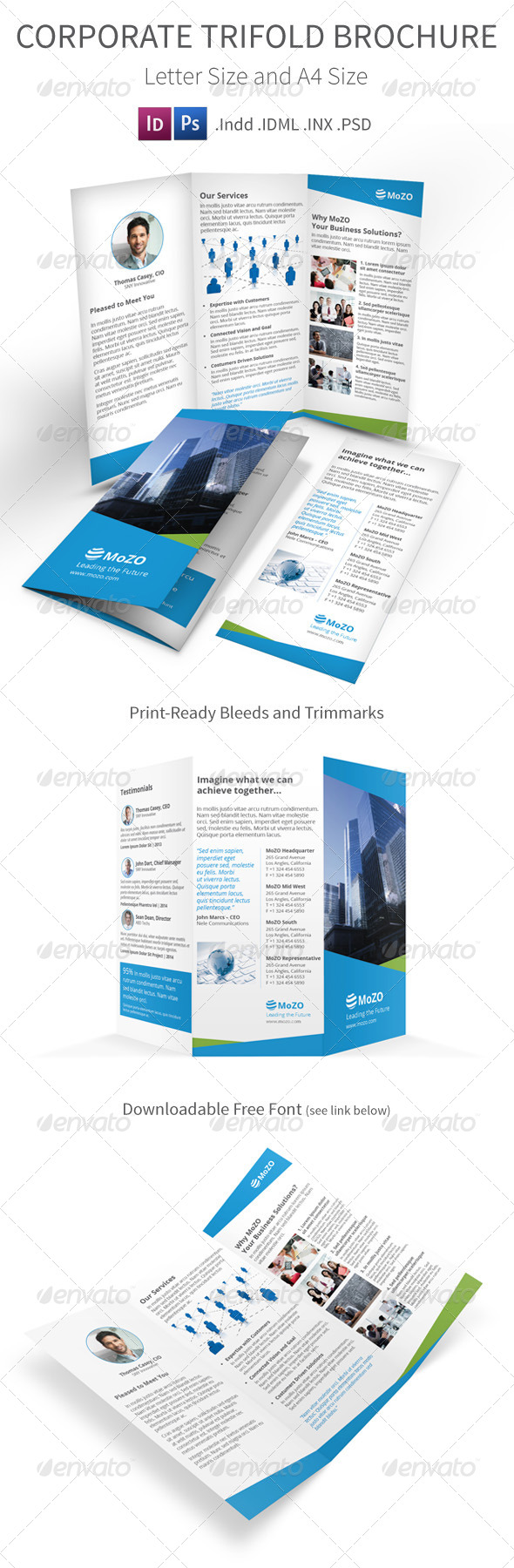 Corporate Trifold Brochure A4 and Letter Size