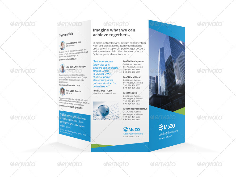 letter size brochure template - corporate trifold brochure a4 and letter size by mike