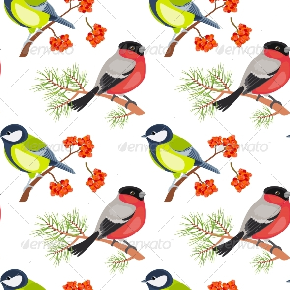 GraphicRiver Birds Seamless Pattern 7501154