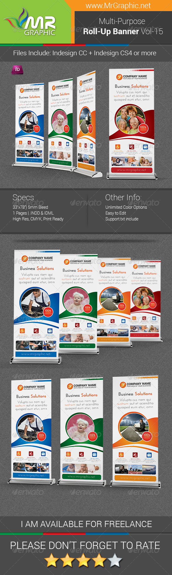 GraphicRiver Multi-Purpose Business Roll-Up Banner Vol-15 7501334