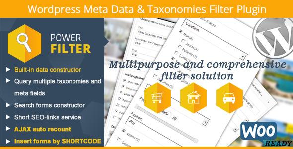 Wordpress Meta Data & Taxonomies Filter - CodeCanyon Item for Sale