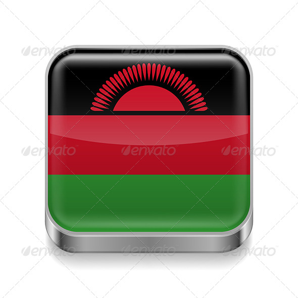 GraphicRiver Metal Icon of Malawi 7501909