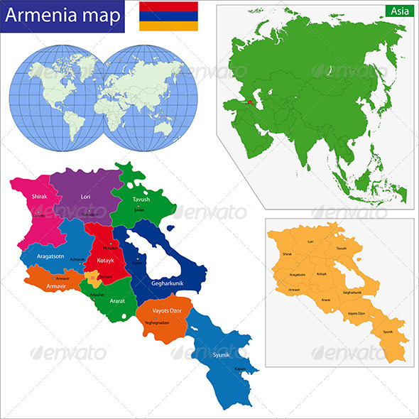 GraphicRiver Armenia Map 7501979