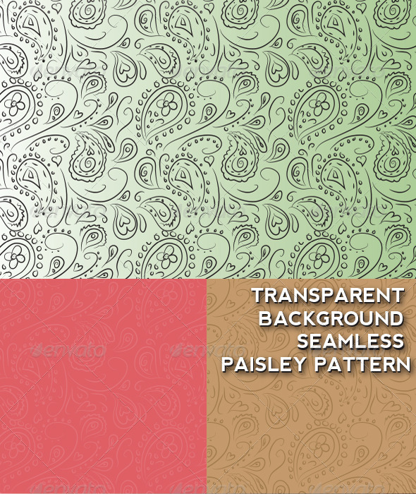 GraphicRiver Transparent Background Seamless Paisley Pattern 7502070