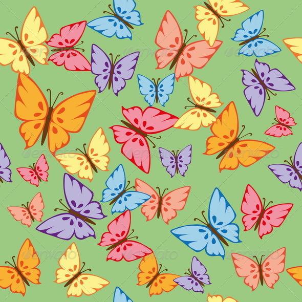 GraphicRiver Butterflies Seamless Texture 7502079