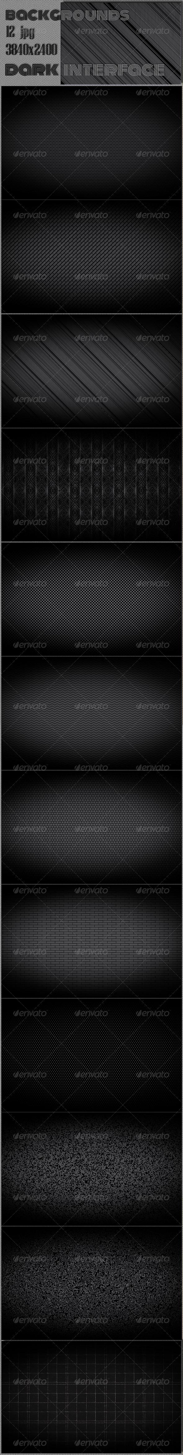 GraphicRiver Dark Web Interface Pattern 7502087