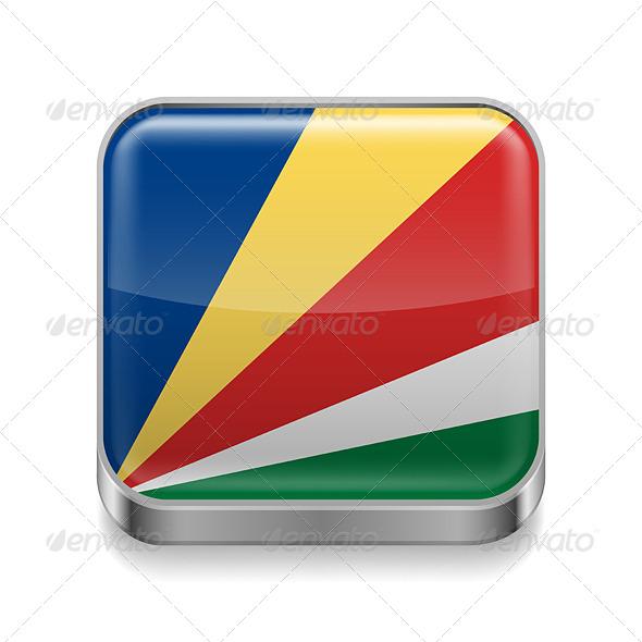 GraphicRiver Metal Icon of Seychelles 7502093