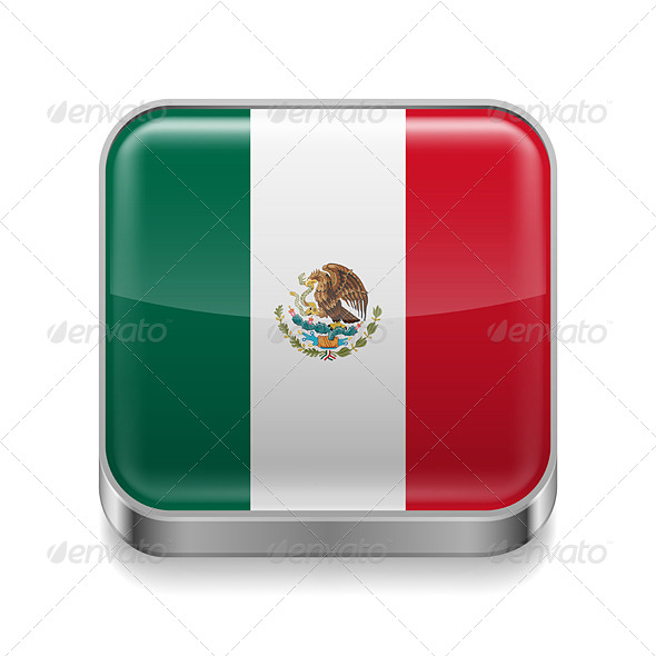 GraphicRiver Metal Icon of Mexico 7502102
