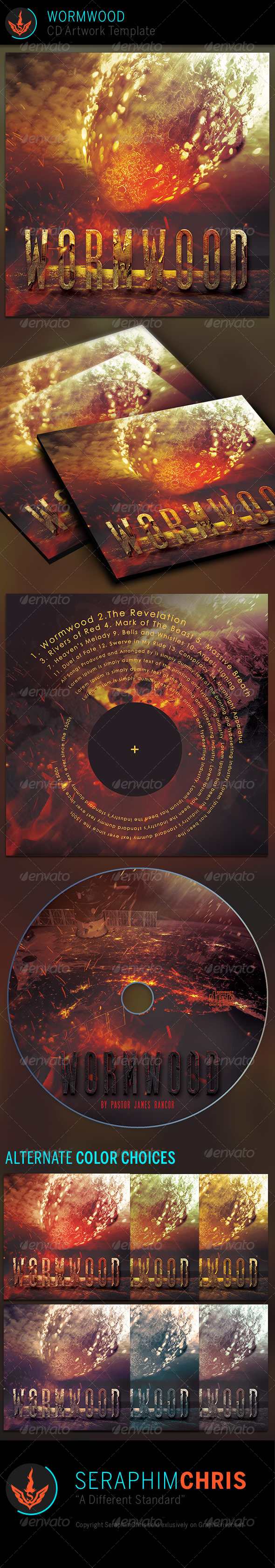 Wormwood: CD Artwork Template - CD & DVD Artwork Print Templates