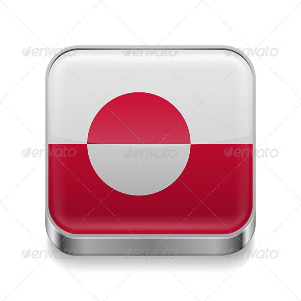 GraphicRiver Metal Icon of Greenland 7502157